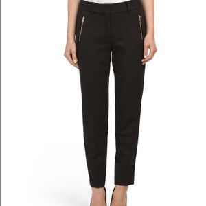 Jones New York Ella Ankle Length Black Pants Sz 8